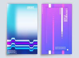 Design de fundo gradiente abstrato para impressão de produtos vetor