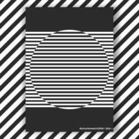 Rodada de cartaz interior preto e branco