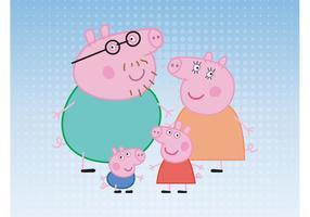 Família Porco vetor