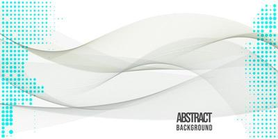 Projeto abstrato do fundo das ondas vetor