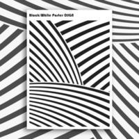 Cartaz interior preto e branco