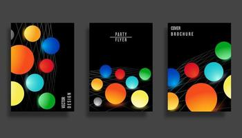 Design da capa abstrata. Fundo colorido esferas gradiente vetor