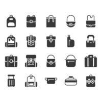 Conjunto de ícones de saco