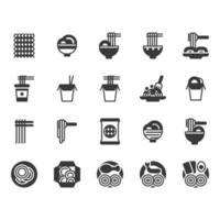 Conjunto de ícones de macarrão