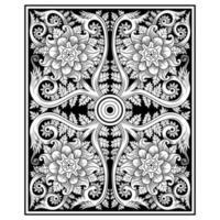 Formas geométricas tradicionais indianas Tapeçarias decorativas vetor
