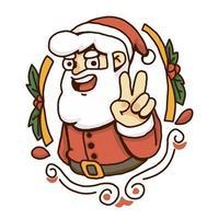 Vetor de sinal de paz de santa natal