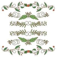 Design de borda bonito de elemento de Natal