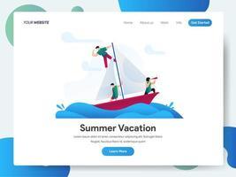 Modelo de página de destino das férias de verão