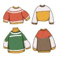 Conjunto de design bonito de camisola de Natal