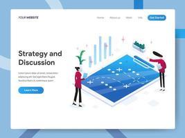 Modelo de página de destino da Estratégia e Discussão