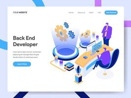 Modelo de página de destino do desenvolvedor de back-end