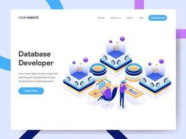 Modelo de página de destino do Desenvolvedor de Banco de Dados vetor