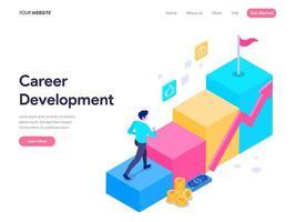 Página inicial do conceito de desenvolvimento de carreira vetor