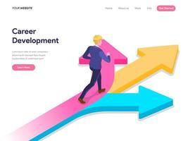 Página inicial Conceito de desenvolvimento de carreira. vetor