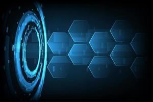 Fundo abstrato tecnologia hexágono vetor