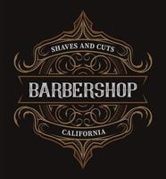 Letras vintage para a barbearia vetor