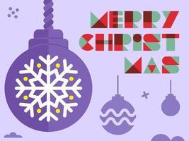 Saudação de enfeite de Natal vetor