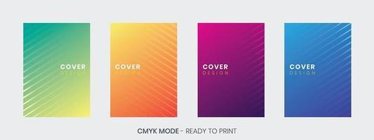 Conjunto de modelo de design de capa mínima