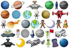 Conjunto de elementos da galáxia vetor