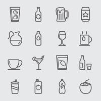 Ícone de linha de bebidas vetor