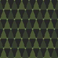 Árvore de Natal verde padrão sem emenda vetor