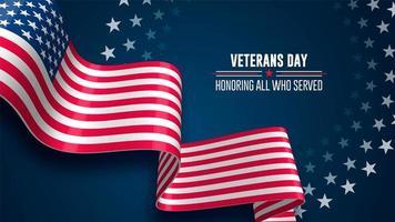 Fundo da bandeira do dia dos veteranos