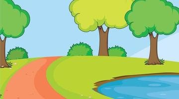 Uma paisagem natural simples