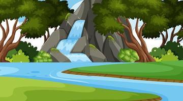 Uma paisagem simples natureza cachoeira vetor