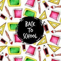 Volta para escola de fundo vetor
