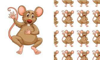 Padrão de mouse ou rato sem costura e isolado vetor