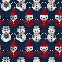 Natal de malha sem costura de fundo vetor