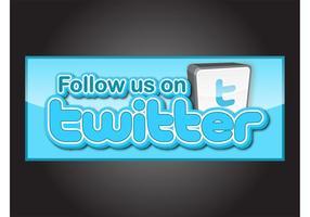 Siga-nos no Twitter vetor