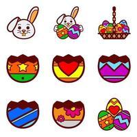 Ovos de Páscoa e coelho