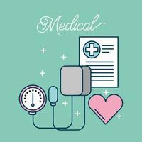 itens de assistência médica vetor