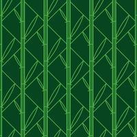 padrão sem emenda de bambu geométrico vetor