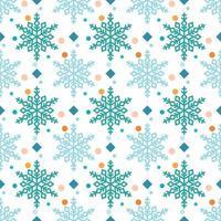 padrão de floco de neve com diamantes e pontos vetor