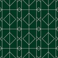 padrão sem emenda de diamante verde e branco vetor