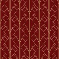 simples sem costura art deco geométrico vermelho marrom padrão vetor