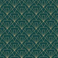 padrão de corte de diamante geométrico simples sem costura art deco vetor