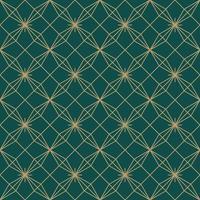 flor estrela simples sem costura arte deco padrão vetor