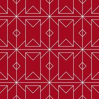 vermelho e branco sem costura padrão geométrico vetor