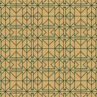 ouro e verde sem costura padrão geométrico vetor