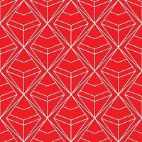 padrão geométrico de diamante vermelho e branco sem costura vetor