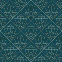 padrão geométrico simples sem costura art deco vetor