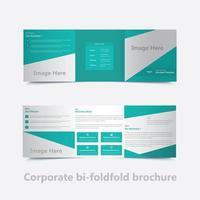 design de modelo de folheto corporativo quadrado bi dobra vetor