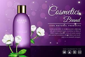 Banner de propaganda de cosméticos de luxo vetor