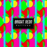 Formas coloridas de néon brilhante sem emenda