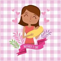 cartão de dia das mães vetor