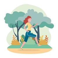 mulher prática executando atividade de exercício