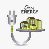 Energia verde e ecologia vetor